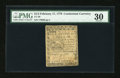 Colonial Notes:Continental Congress Issues, Continental Currency February 17, 1776 $1/3 PMG Very Fine 30....