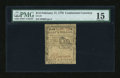 Colonial Notes:Continental Congress Issues, Continental Currency February 17, 1776 $1/2 PMG Choice Fine 15....