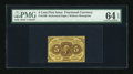 Fractional Currency:First Issue, Fr. 1229 5c First Issue PMG Choice Uncirculated 64 EPQ....
