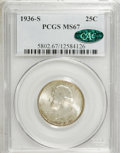 Washington Quarters, 1936-S 25C MS67 PCGS. CAC....
