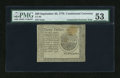 Colonial Notes:Continental Congress Issues, Continental Currency September 26, 1778 $20 Blue CounterfeitDetector PMG About Uncirculated 53....