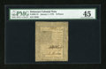 Colonial Notes:Delaware, Delaware January 1, 1776 18d PMG Choice Extremely Fine 45....
