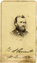 Autographs:U.S. Presidents, Union General Ulysses S. Grant Carte de Visite Signed as Lt. Gen. A somewhat casual pose in major general frock ...