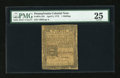 Colonial Notes:Pennsylvania, Pennsylvania April 3, 1772 1s PMG Very Fine 25....