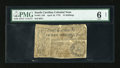 Colonial Notes:South Carolina, South Carolina April 10, 1778 15s PMG Net Good 6....