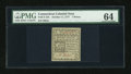 Colonial Notes:Connecticut, Connecticut October 11, 1777 7d Slash Cancelled PMG ChoiceUncirculated 64....