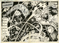 Original Comic Art:Splash Pages, Don Heck and Romeo Tanghal Justice League of America #213The Atom Splash Pages 2 and 3 Original Art (DC, 1983).... (Total: 2Items)