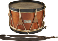 """Civil War Snare Drum """"Presented to/ James D. Deas/ 5th Maine Drum Corps by the Members of Co. C"""" is the Engrav..."""