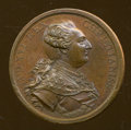 Betts Medals, 1783 Peace of Versailles Medal, Bronze MS60 Uncertified....