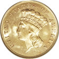 Three Dollar Gold Pieces, 1879 $3 MS64 PCGS....
