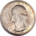 Washington Quarters, 1934 25C Doubled Die Obverse MS65 NGC. CAC....