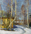 Fine Art - Painting, Russian:Contemporary (1950 to present), NIKOLAI DUBOVIK (Russian, b. 1960). March at the Dacha. Oilon canvas. 31-1/4 x 28-1/2 inches (79.4 x 72.4 cm). Inscribe...