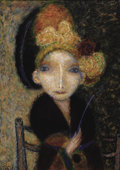 Fine Art - Painting, Russian:Contemporary (1950 to present), NALBI BUGASHEV (Russian, 20th Century). Portrait of Lady,1992. Oil on canvas. 30 x 22 inches (76.2 x 55.9 cm). Signed l...