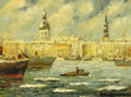 Fine Art - Painting, Russian:Modern (1900-1949), ALBERT SILZEMNIECKS (Russian, 20th Century). Riga. Oil on artist board. 12 x 16 inches (30.5 x 40.6 cm). Signed lower ri...
