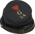 Military & Patriotic:Civil War, Impressive McDowell Pattern Forage Cap with Original Insignia. This is a classic example of the popular cap that was inspire...