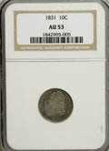 Bust Dimes: , 1831 10C AU53 NGC. NGC Census: (4/219). PCGS Population (19/172). Mintage: 771,350. Numismedia Wsl. Price for NGC/PCGS coin...