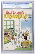 Golden Age (1938-1955):Cartoon Character, Walt Disney's Comics and Stories #7 (Dell, 1941) CGC GD- 1.8Brittle pages....