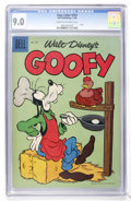 Silver Age (1956-1969):Cartoon Character, Four Color #747 Goofy (Dell, 1956) CGC VF/NM 9.0 Cream to off-white pages....