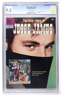 Four Color #757 True Story of Jesse James (Dell, 1957) CGC NM- 9.2 Off-white pages