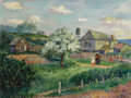 Fine Art - Painting, Russian:Modern (1900-1949), DAVID DAVIDOVICH BURLIUK (Russian/American, 1882-1967). A Strollin the Country, 1944. Oil on canvas. 20 x 26 inches (50...