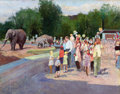 Fine Art - Painting, Russian:Contemporary (1950 to present), KUZMA VASILIEVIC NICOLAEV (Russian, 1890-1972). Moscow Zoo, circa 1950s. Oil on canvas. 28 x 36 inches (71.1 x 91.4 cm)...