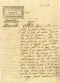 Autographs:Non-American, [Coahuila y Tejas] Governor Joaquín García Manuscript CircularSigned regarding the Election of José María Letona. Two pages...
