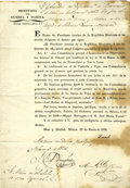 Autographs:Non-American, [Texas Revolution: José María de Tornel y Mendivil] Miguel BarragánBroadside Establishes New Commandancias and Headquarters t...