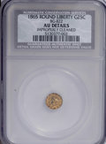 California Fractional Gold: , 1865 25C Liberty Round 25 Cents, BG-822, R.4,--ImproperlyCleaned--NCS. AU Details. NGC Census: (0/11). PCGS Population(3/...