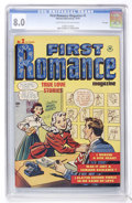 Golden Age (1938-1955):Romance, First Romance #2 File Copy (Harvey, 1949) CGC VF 8.0 Light tan tooff-white pages....