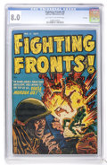 Golden Age (1938-1955):War, Fighting Fronts! #2 File Copy (Harvey, 1952) CGC VF 8.0 Light tanto off-white pages....
