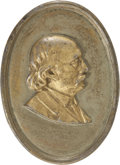 Political:3D & Other Display (pre-1896), Benjamin Butler: Portrait Plaque, Greenback Party Presidential Campaign, 1884. ...