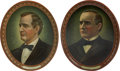 Political:3D & Other Display (1896-present), William McKinley and William Jennings Bryan Tin Lithographed Trays ... (Total: 2 Items)