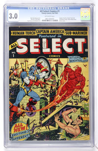All Select Comics #1 (Timely, 1943) CGC GD/VG 3.0 Off-white pages