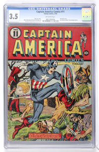 Captain America Comics #11 (Timely, 1942) CGC VG- 3.5 Off-white pages