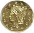 California Fractional Gold: , 1870 25C Liberty Octagonal 25 Cents, BG-755, High R.4, MS63Prooflike NGC. (#71...