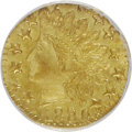 California Fractional Gold: , 1880 25C Indian Octagonal 25 Cents, BG-799J, R.3, MS65 NGC. NGCCensus: (6/2). PCGS Population (35/6). (#10636)...