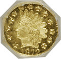California Fractional Gold: , 1872 50C Indian Octagonal 50 Cents, BG-940, R.4, MS65 NGC. NGCCensus: (2/2). PCGS Population (9/0). (#10798)...