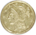 California Fractional Gold: , 1856 50C Liberty Round 50 Cents, BG-434, Low R.4, MS62 NGC. NGCCensus: (6/0). PCGS Population (35/21). (#10470)...