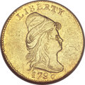Early Quarter Eagles, 1796 $2 1/2 No Stars AU53 NGC....