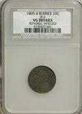 Early Dimes, 1805 10C 4 Berries--Repaired, Whizzed--NCS. VG Details....