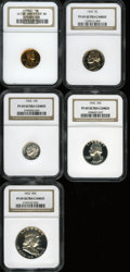 Proof Sets, 1962 1C Proof Set PR69 Ultra Cameo NGC. ... (Total: 5 coins)