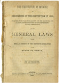Books:Periodicals, The Constitution as Amended, and Ordinances of the Convention of 1866, Together with the Proclamation of the Governor Declar...