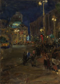 Fine Art - Painting, Russian:Contemporary (1950 to present), VLADIMIR GREMITSKIKH (Russian, 1916-1991). Night, Moscow, circa 1960s. Oil on board. 27 x 19 inches (68.6 x 48.3 cm). In...