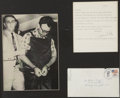 """Autographs:Celebrities, James Earl Ray: Typed Letter Signed, """"James Ray"""",..."""
