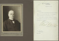 Autographs:U.S. Presidents, William McKinley: Portrait Photograph Signed,...