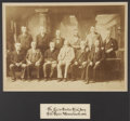 "Photography:Cabinet Photos, Lizzie Borden's Jury of 1893: Mammoth Plate Photograph, imagemeasures 16.50"" x 11.75"", in a period gilt frame 26.75"" x 22.5..."