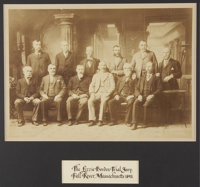 """Lizzie Borden's Jury of 1893: Mammoth Plate Photograph, image measures 16.50"""" x 11.75"""", in a period gilt frame..."""