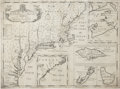 "Antiques:Posters & Prints, Early Map of British North America: Edward Wells, ""A New Map of themost Considerable Plantations of the English in America..."
