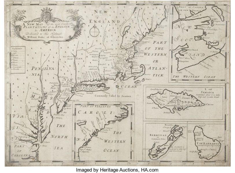 New Map Of America.Early Map Of British North America Edward Wells A New Map Of The