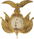 Political:Ferrotypes / Photo Badges (pre-1896), Grover Cleveland: Fantastic 1892 Photograph Pin....